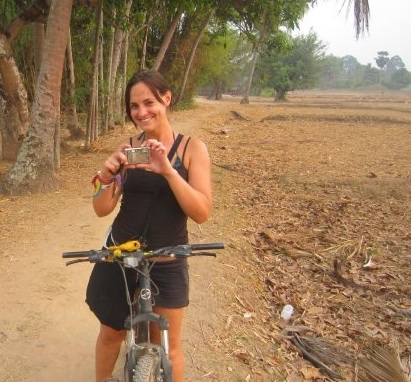 A dusty bike ride in Laos